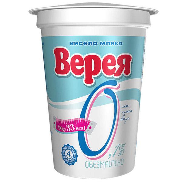 Обезмаслено кисело мляко Верея 0,1% 400г